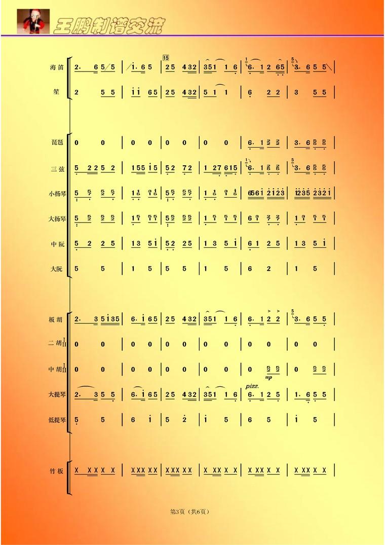 请点评民乐合奏总谱 制谱展评 制谱论坛 谱谱风 简谱 软件