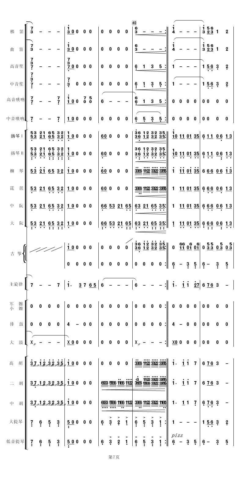 族管弦乐总谱 好日子 制谱展评 制谱论坛 谱谱风 简谱 软件 Powered