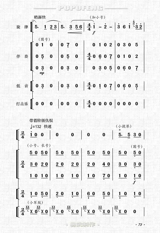陈瑞天使之歌歌谱-军 全剧主旋律乐谱之第四场 制谱展评 制谱论坛 谱谱风 简谱 软件