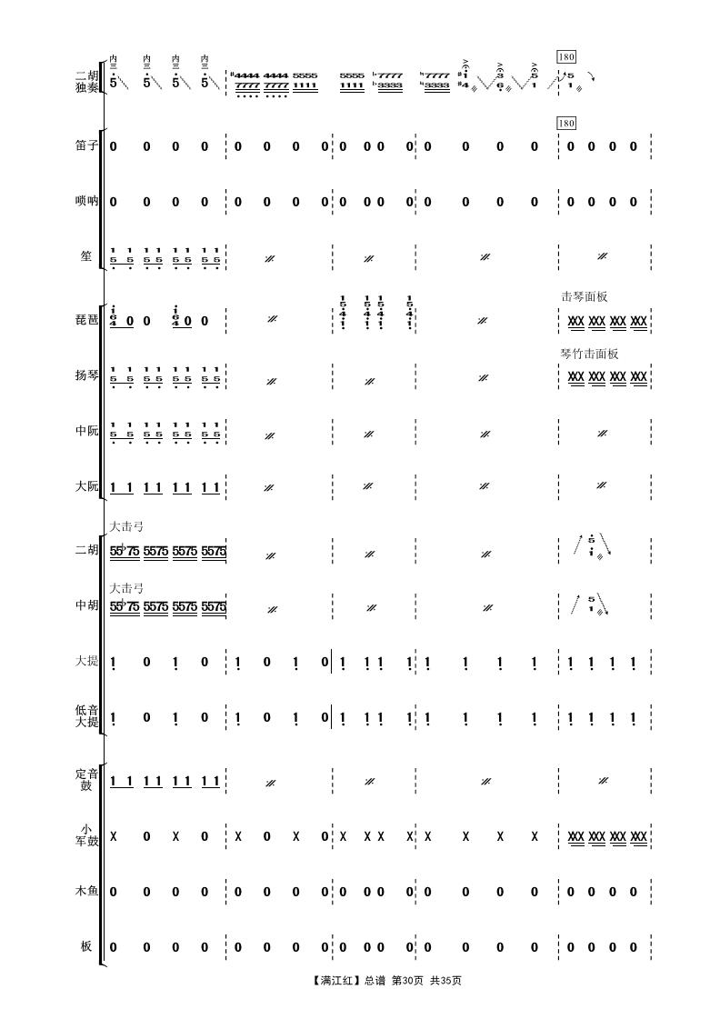 红 二胡独奏曲民乐伴奏总谱 二胡 板胡曲谱 制谱论坛 谱谱风 简谱 软