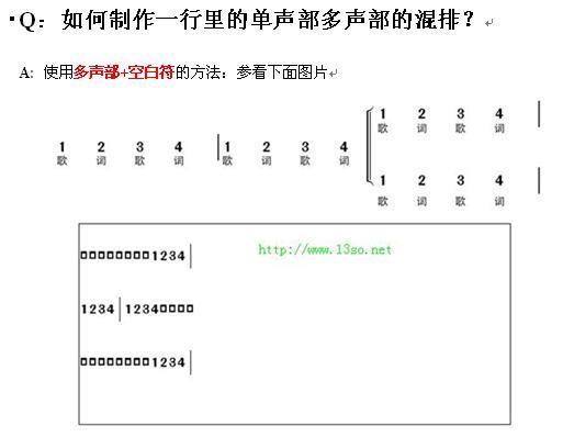 一个声部中的双声部输入问题 软件使用交流 制谱论坛 谱谱风 简谱 软件